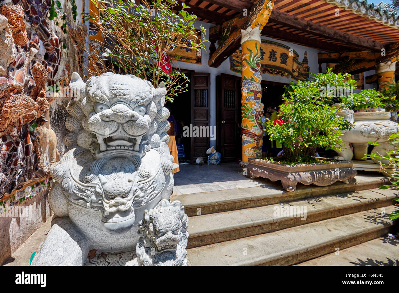 Linh Ung Pagoda on Thuy Son Mountain. The Marble Mountains, Da Nang, Vietnam. - Stock Image