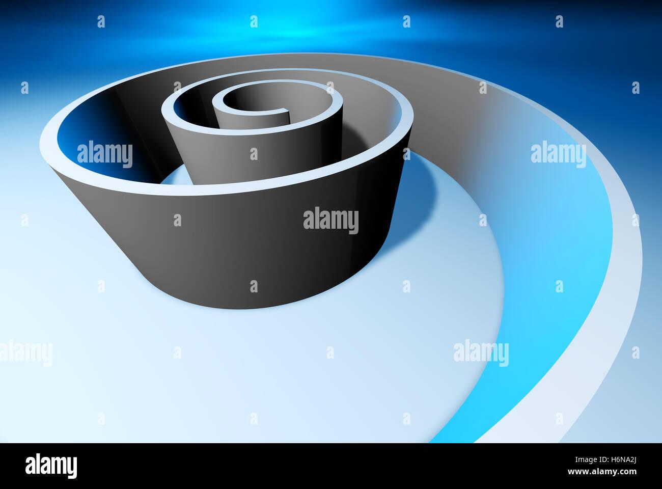 spiral b - Stock Image