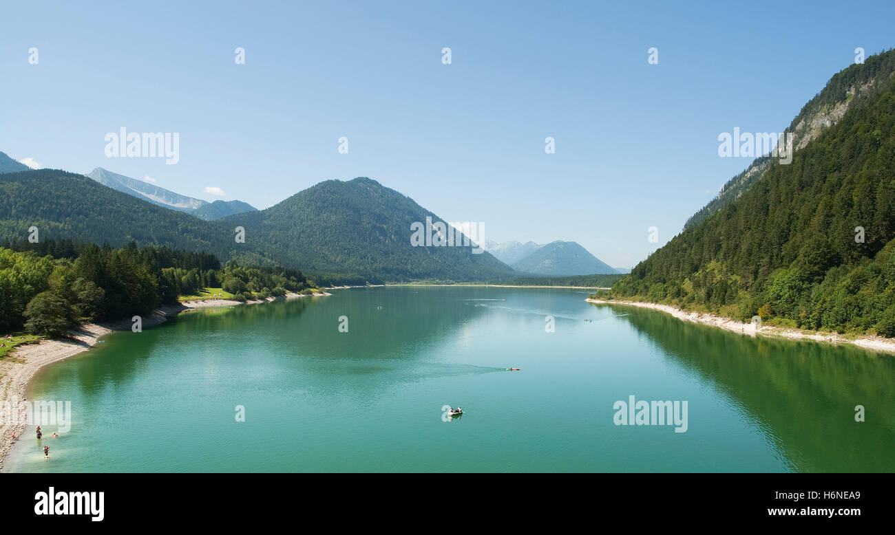 idyll of sylvensteinsees in bavaria Stock Photo
