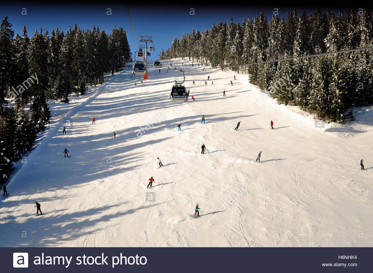 Top of Cerna Hora- The Black Mountain in winter-Janske Lazne-Czech Republik. - Stock Image