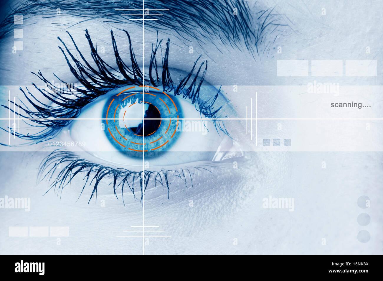 biometric retina scan - Stock Image