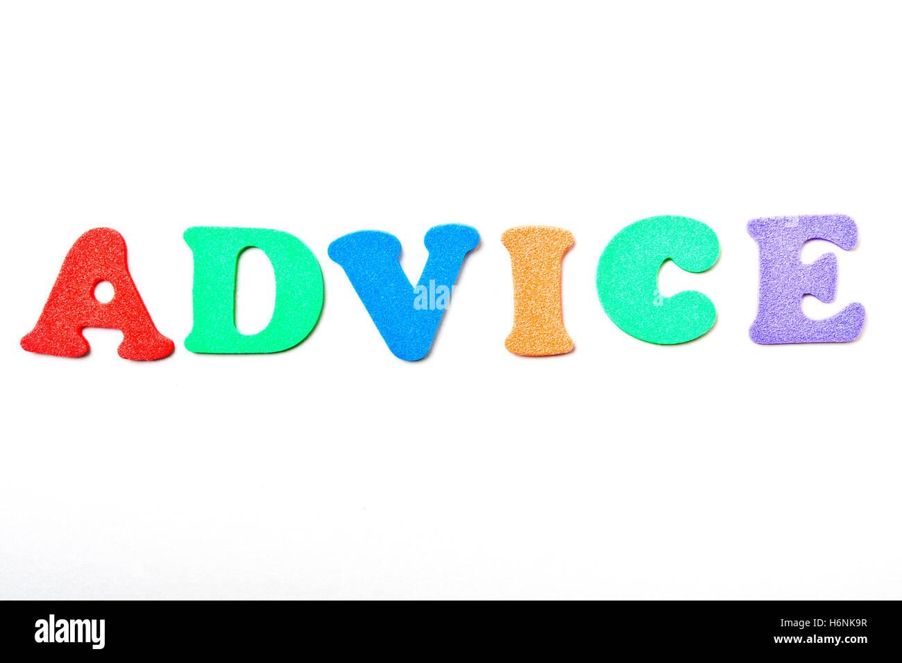 word advice - Stock Image