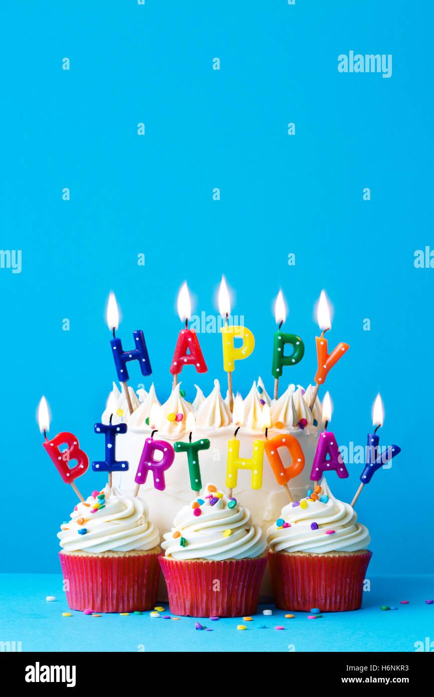 Outstanding Birthday Cake With Happy Birthday Message Stock Photo 124637047 Funny Birthday Cards Online Chimdamsfinfo