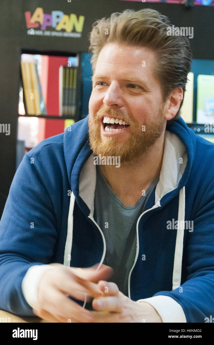 Joscha Sauer, german cartoonist (Nichtlustig), Frankfurt Bookfair 2016 - Stock Image