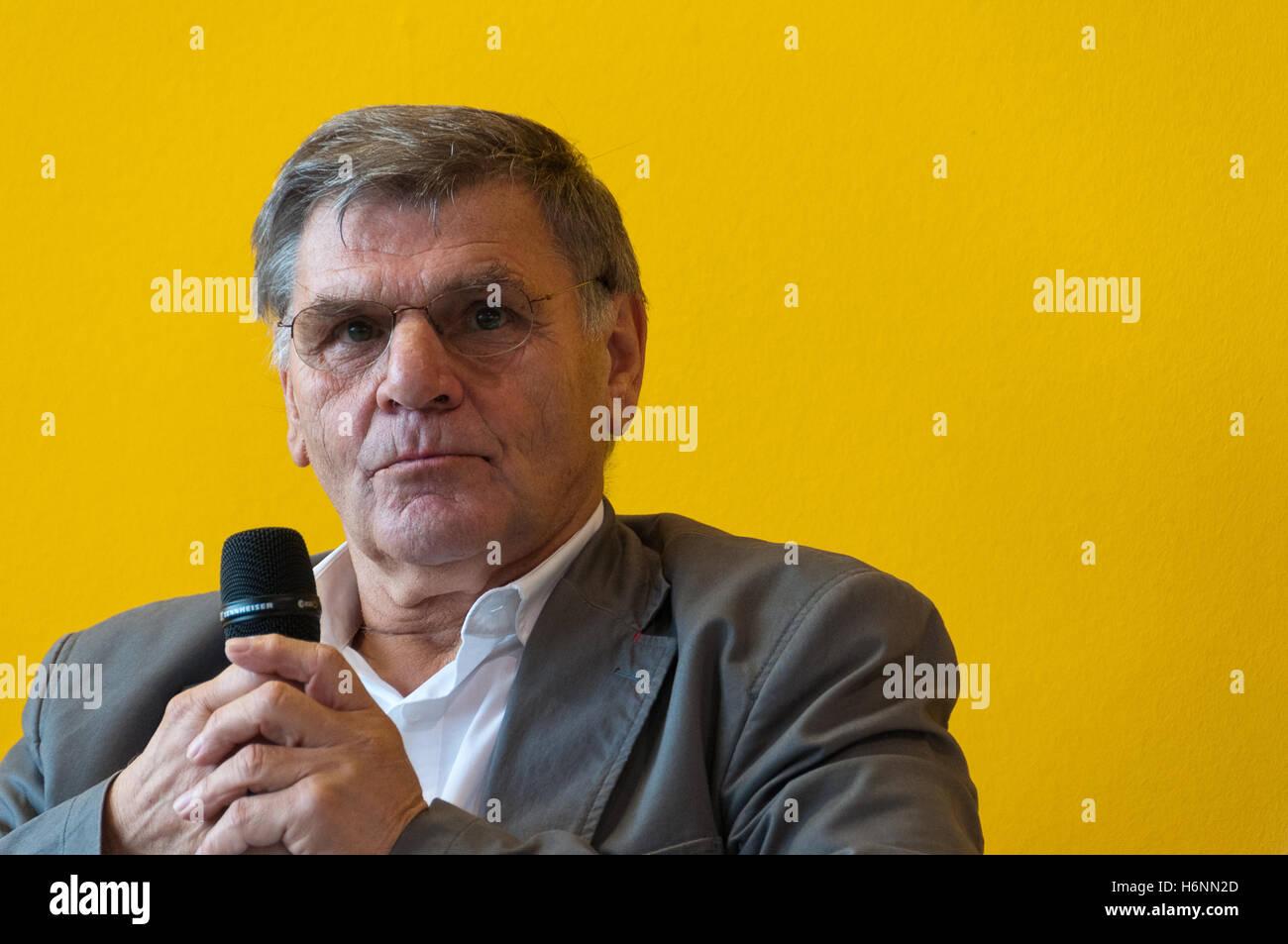 Wolfgang Weber, soccer WM 1966, Frankfurt Bookfair 2016 - Stock Image