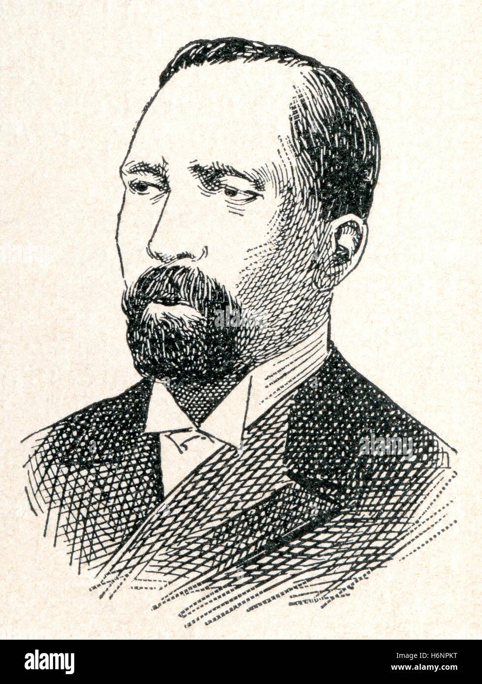Ascensión Esquivel Ibarra, 1844  - 1923.  Nicaraguan-born 17th President of Costa Rica. - Stock Image