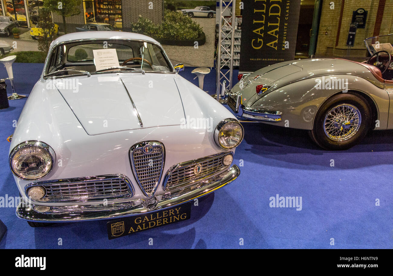 Classic Alfa Romeo Sprint At The Classic Car Show Alexander Palace London 2016 - Stock Image