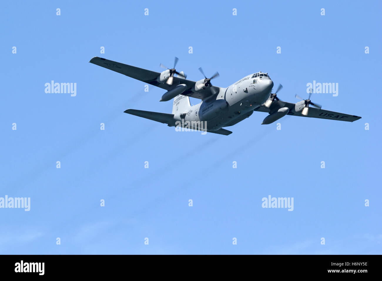 Missouri Air National Guard C-130H Hercules assigned to the 139th Airlift Wing (AMC). - Stock Image
