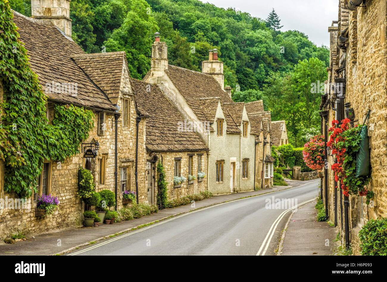 Village of Castle Combe - Stock Image