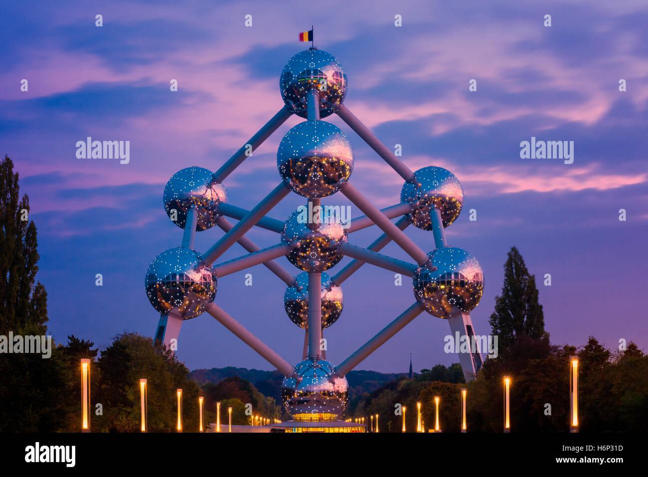 Atomium building in Brussels Belgium - Stock Image