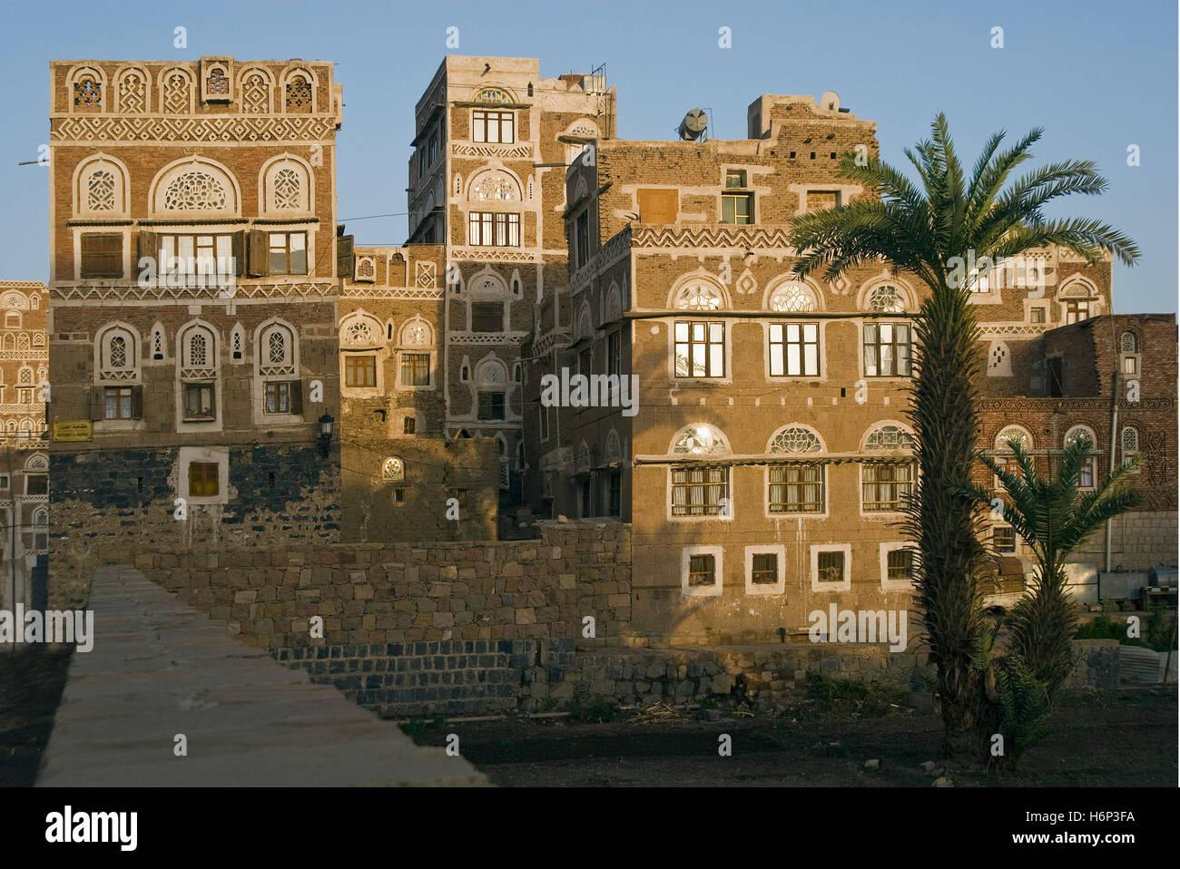 sanaa gardens,yemen - Stock Image
