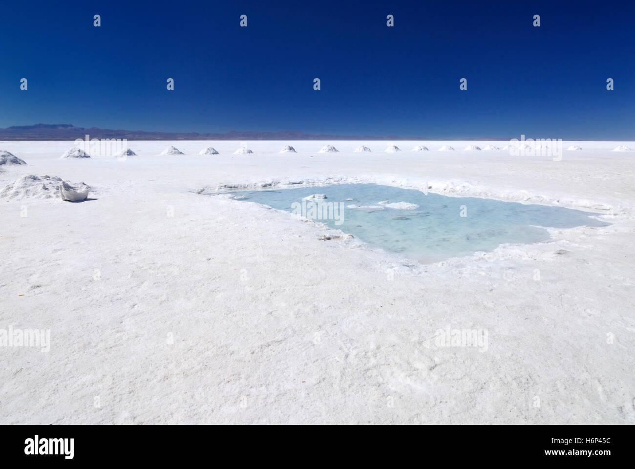 salt lake uyuni - Stock Image