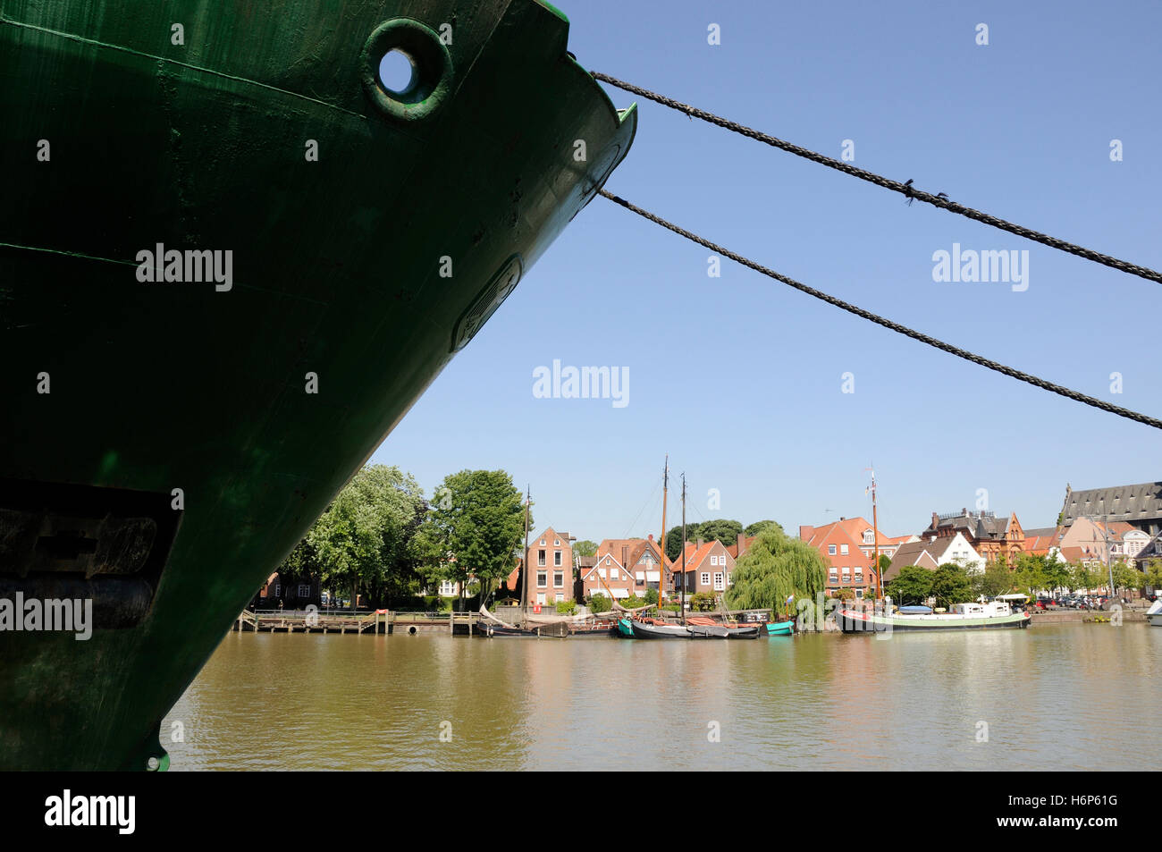 harbor in leer - Stock Image