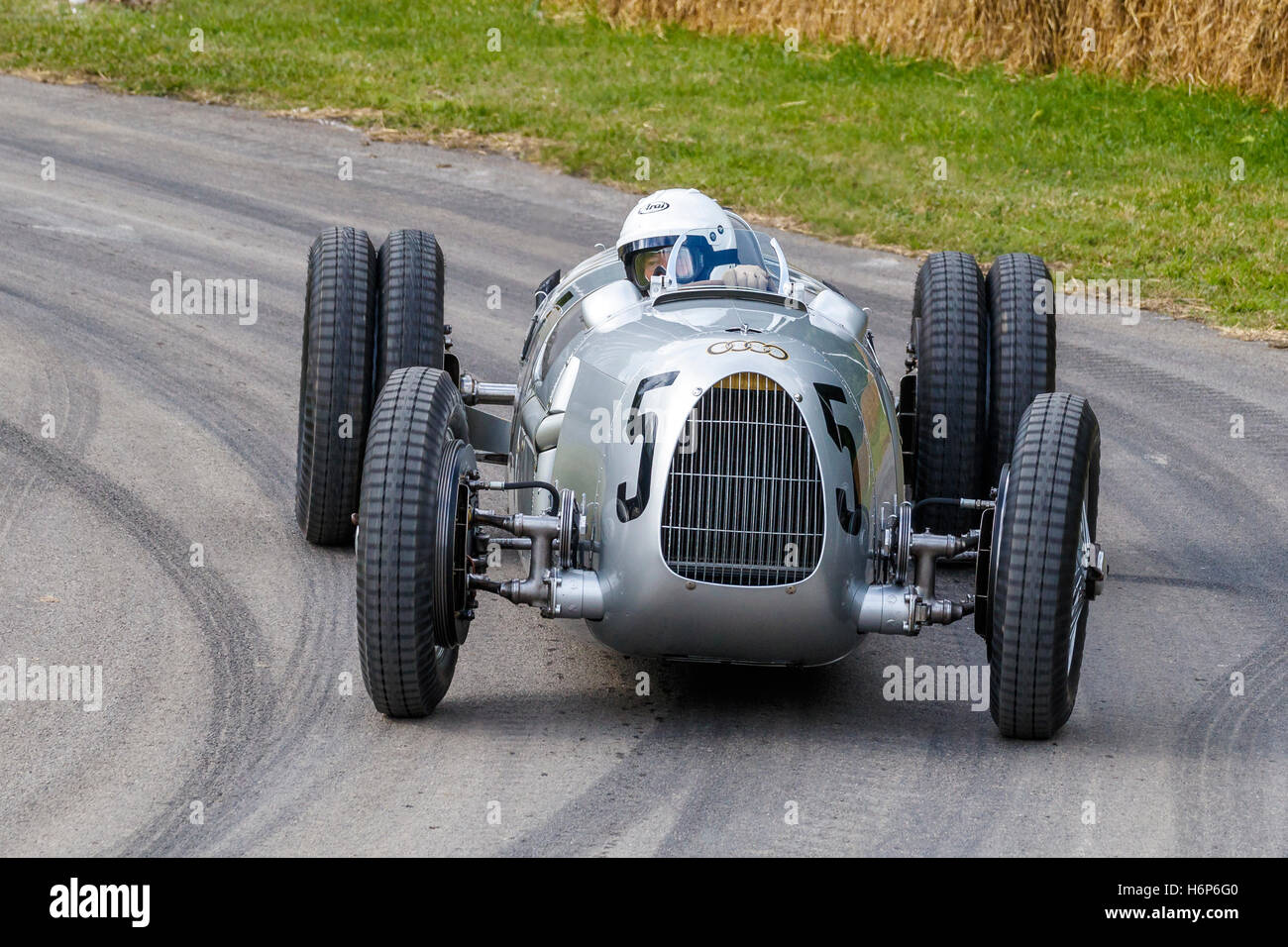 1936 type auto union type c with driver timo witt at 2016 goodwood festival of speed sussex uk