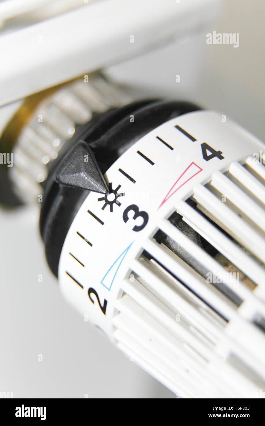 thermostat regulator - Stock Image