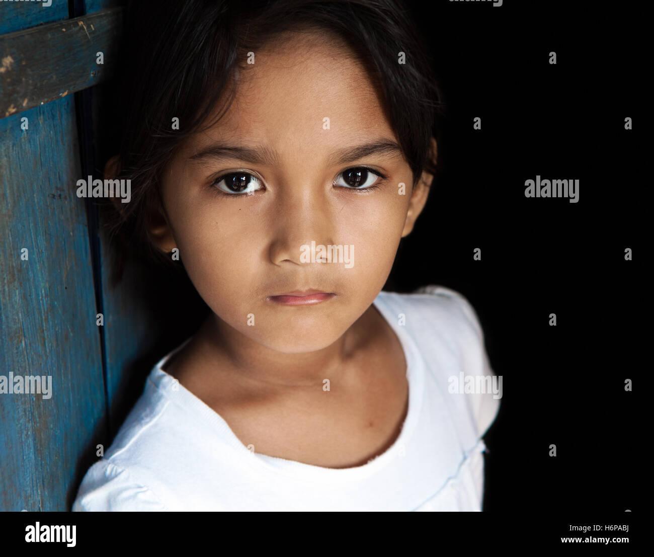 asia portrait asian philippines child girl girls blue beautiful