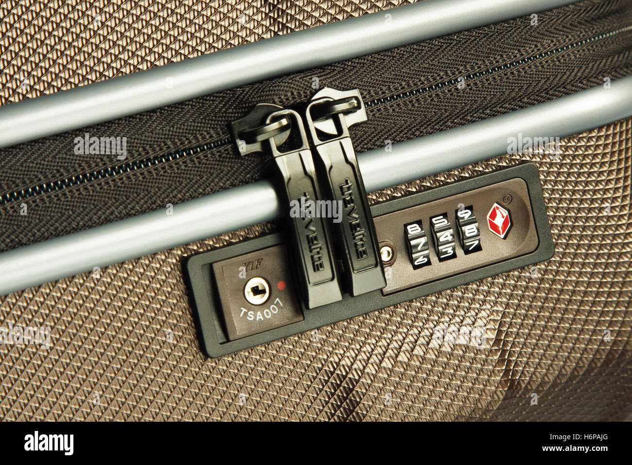 GDANSK, POLAND - SEPTEMBER 20, 2016. Baggage with TSA lock made by Travelite. - Stock Image