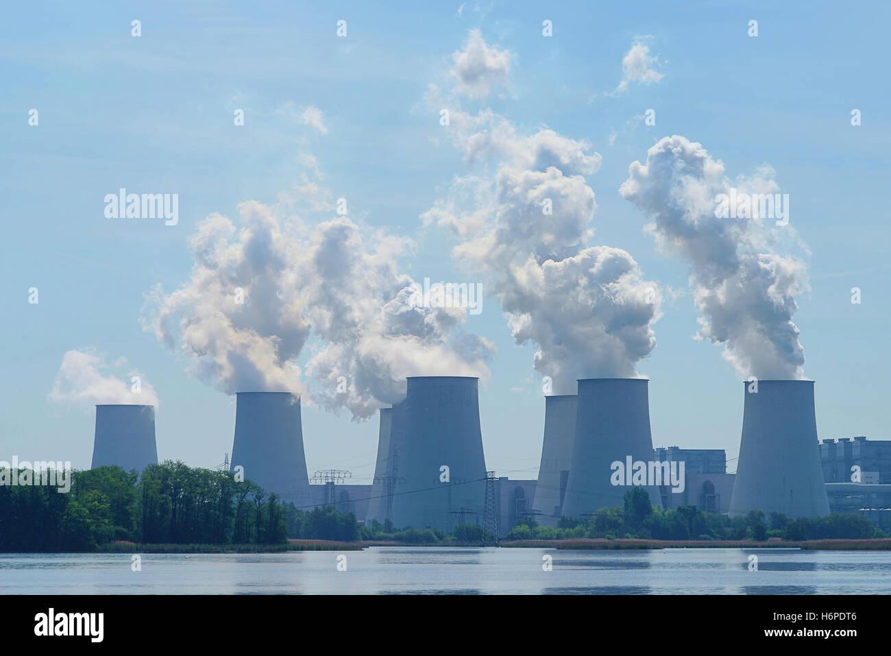 powerplant janschwalde - kraftwerk janschwalde 22 - Stock Image
