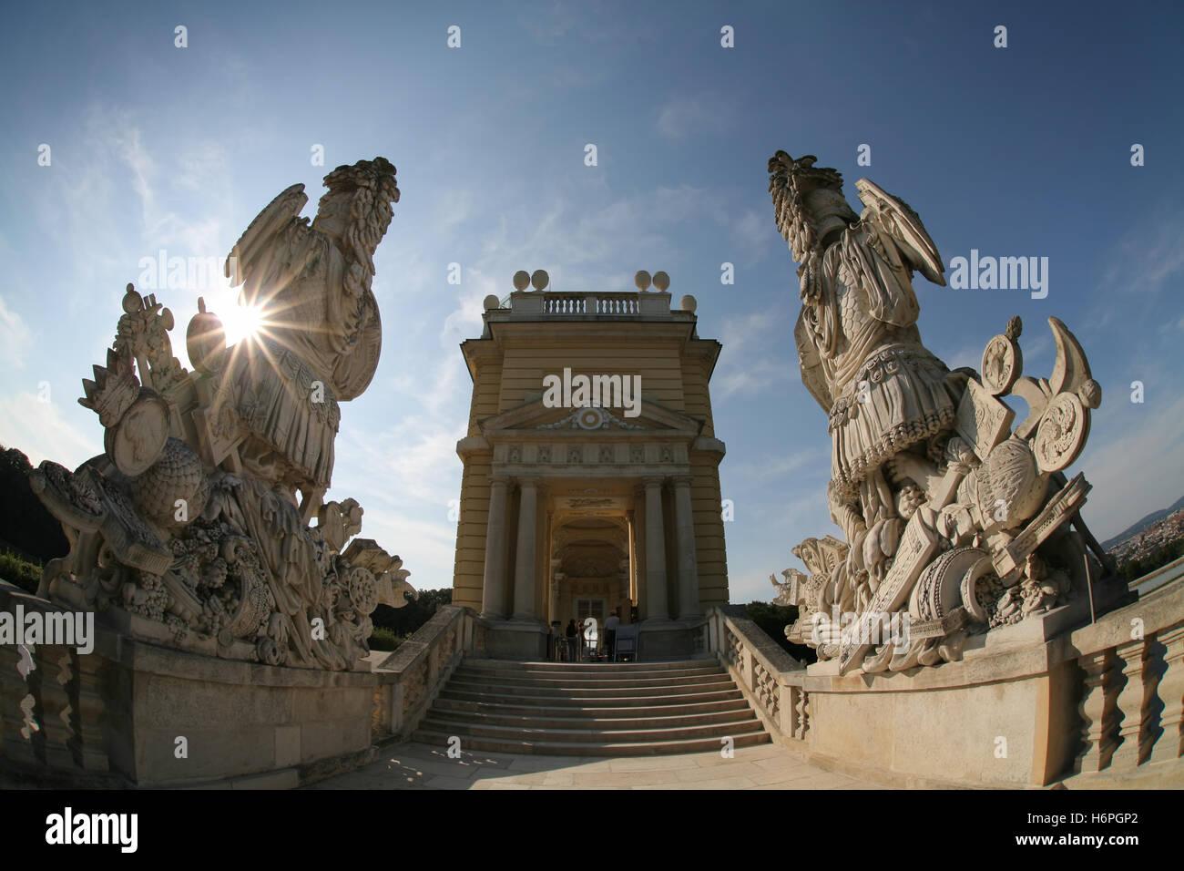 gloriette,schonbrunn palace,vienna - Stock Image