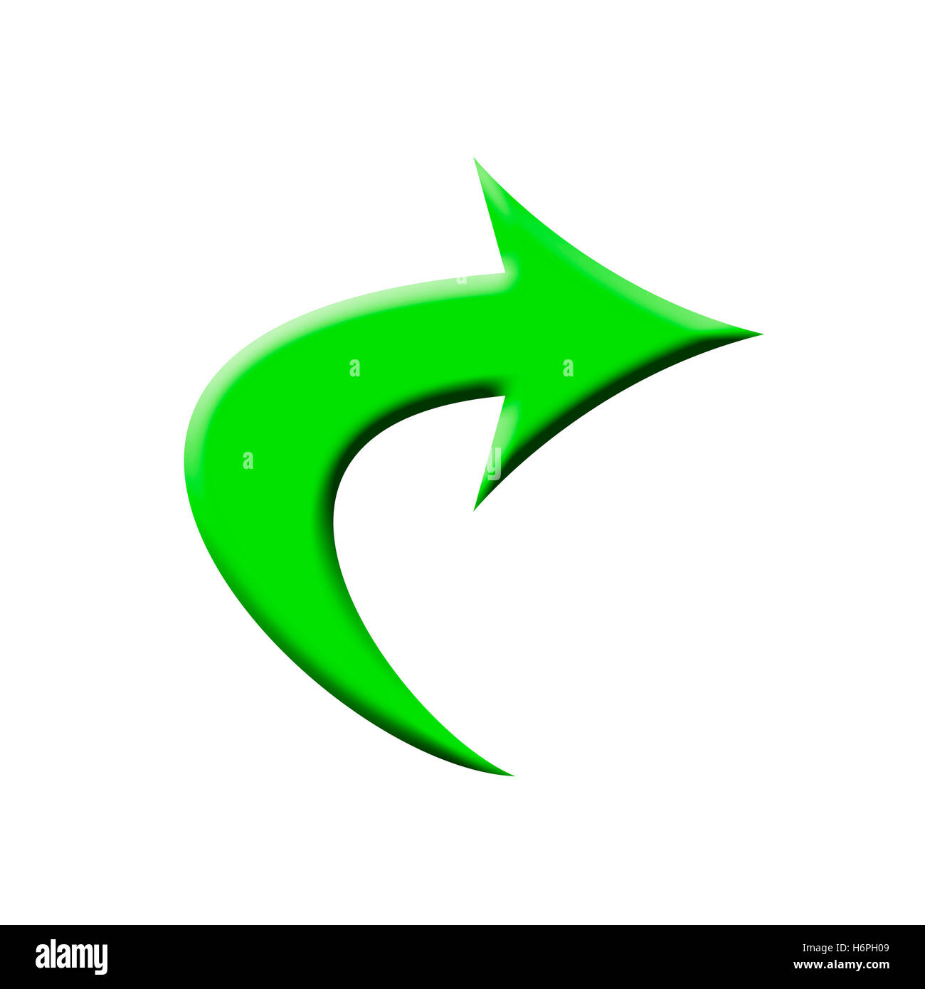 green arrow - Stock Image