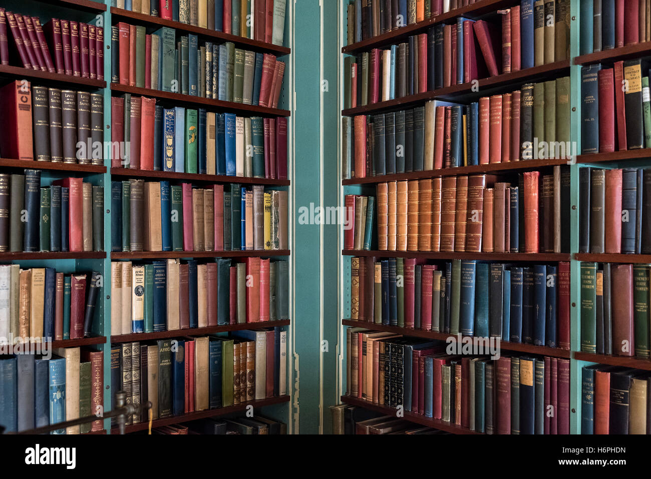 Library of old and rare books. - Stock Image