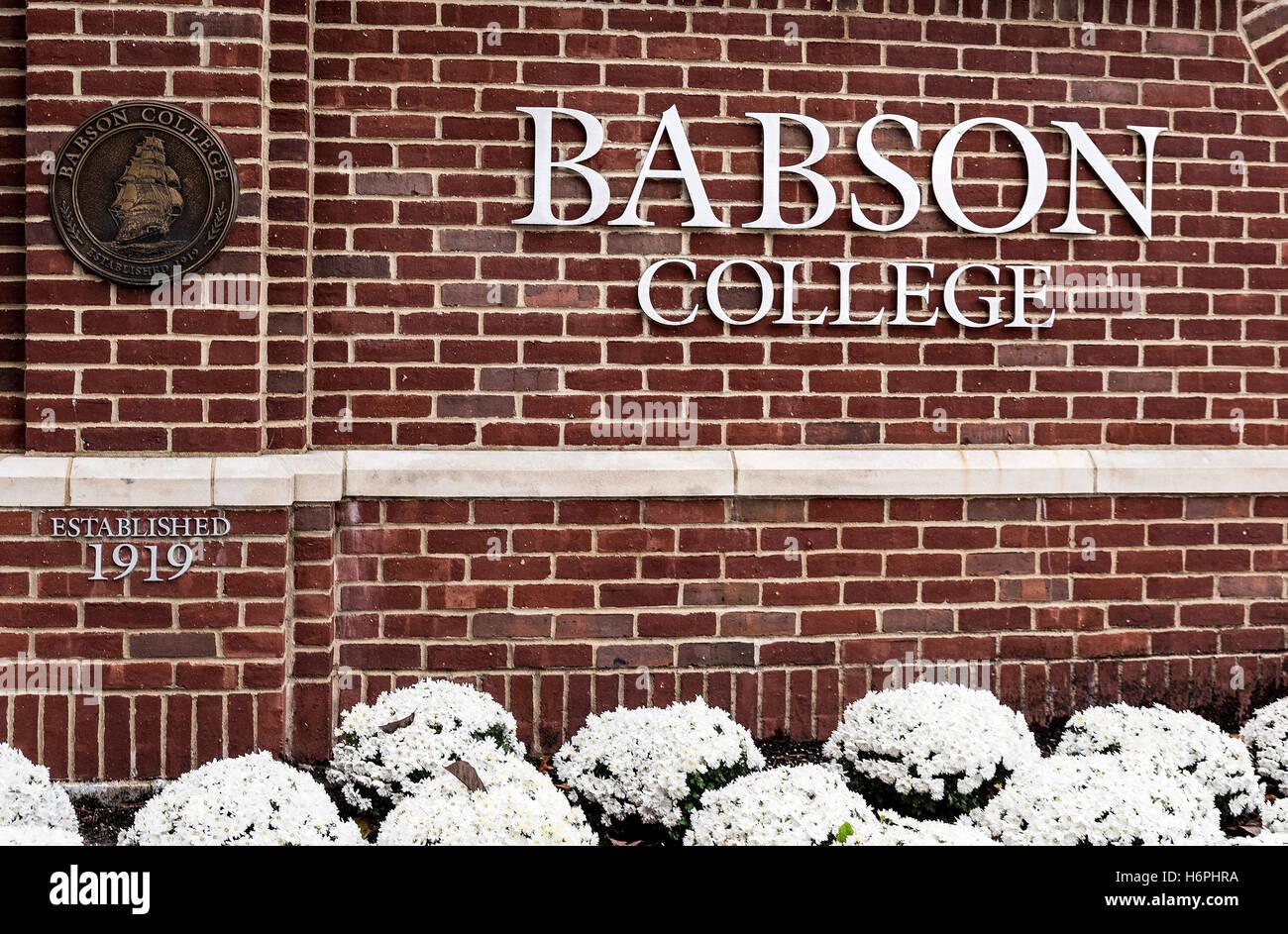 Babson College, Wellesley, Massachusetts, USA. - Stock Image