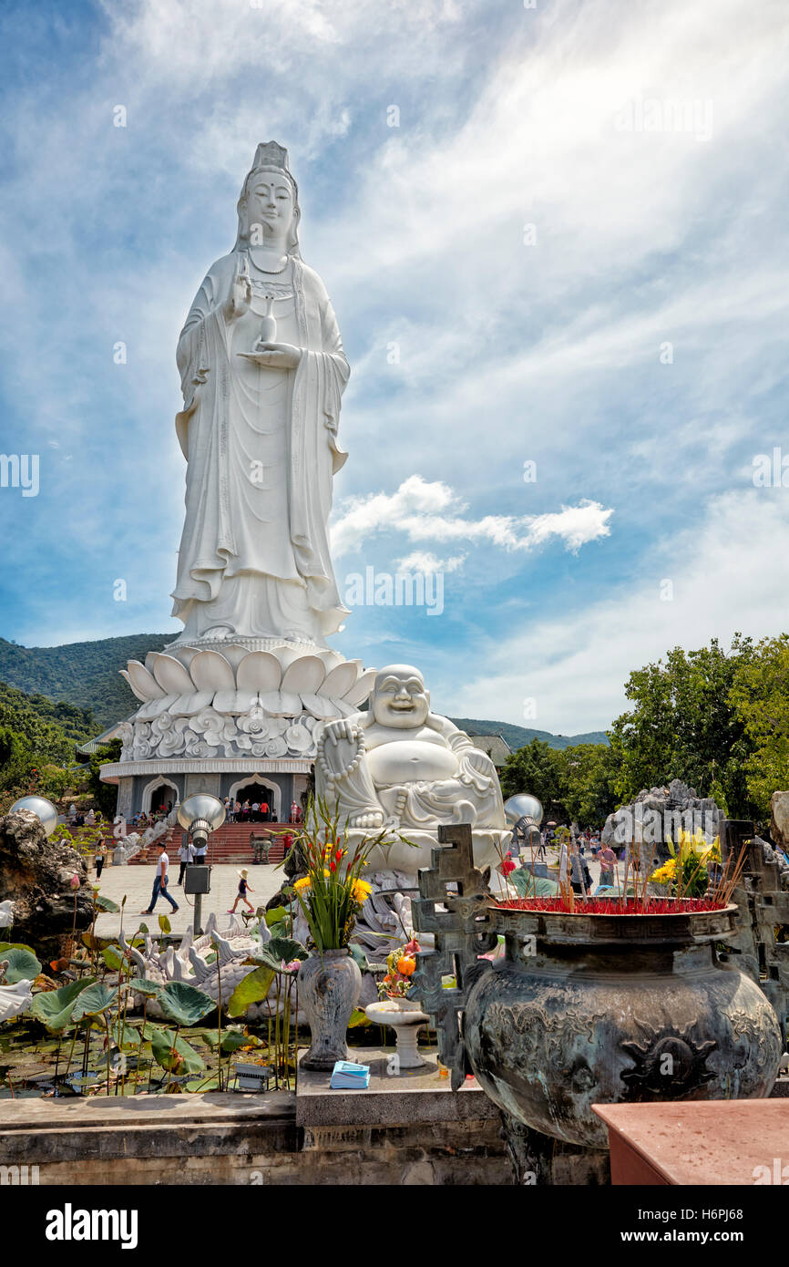 Lady Buddha statue on Son Tra Peninsula. Da Nang, Vietnam. - Stock Image