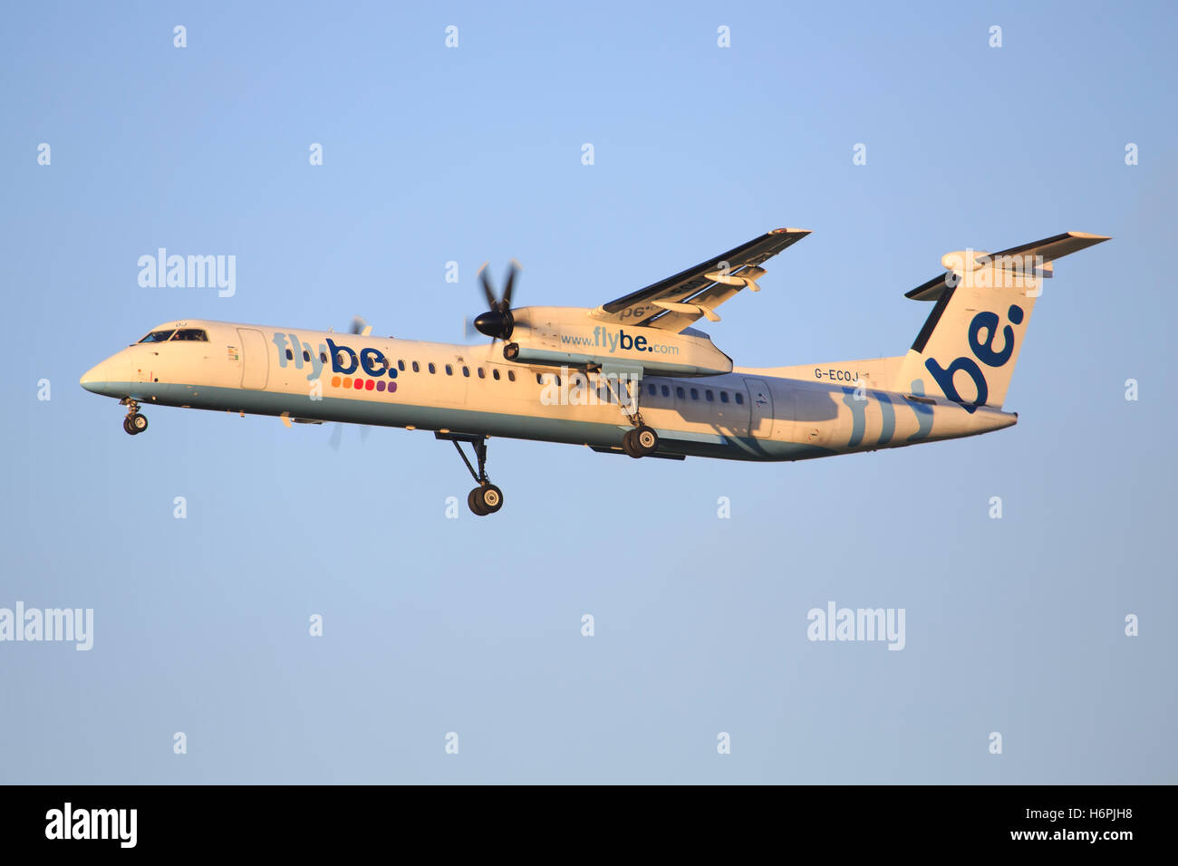 Flybe dash at Amsterdam - Stock Image