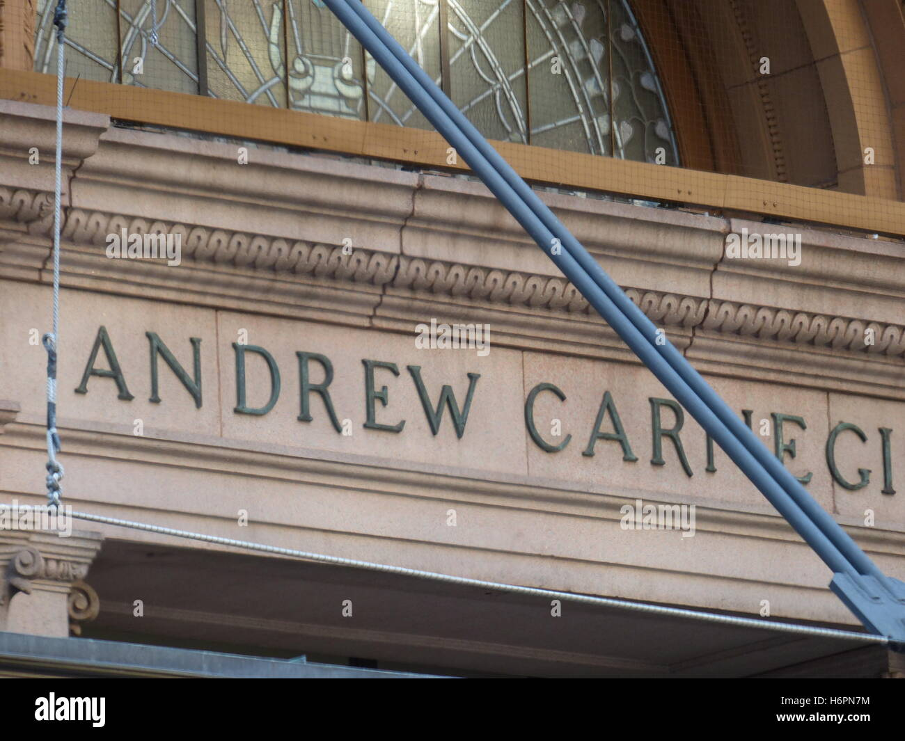 Carnegie Hall on West 57th Street - Stock Image