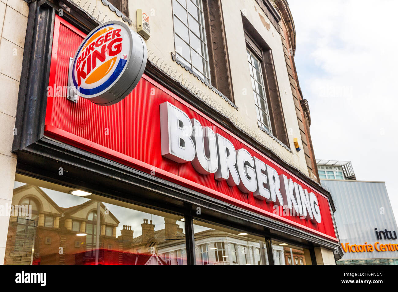 Burger King Shop Front Sign Building Exterior Facade Signs Signage Hi8gh Street Store Takeaway Food Fast