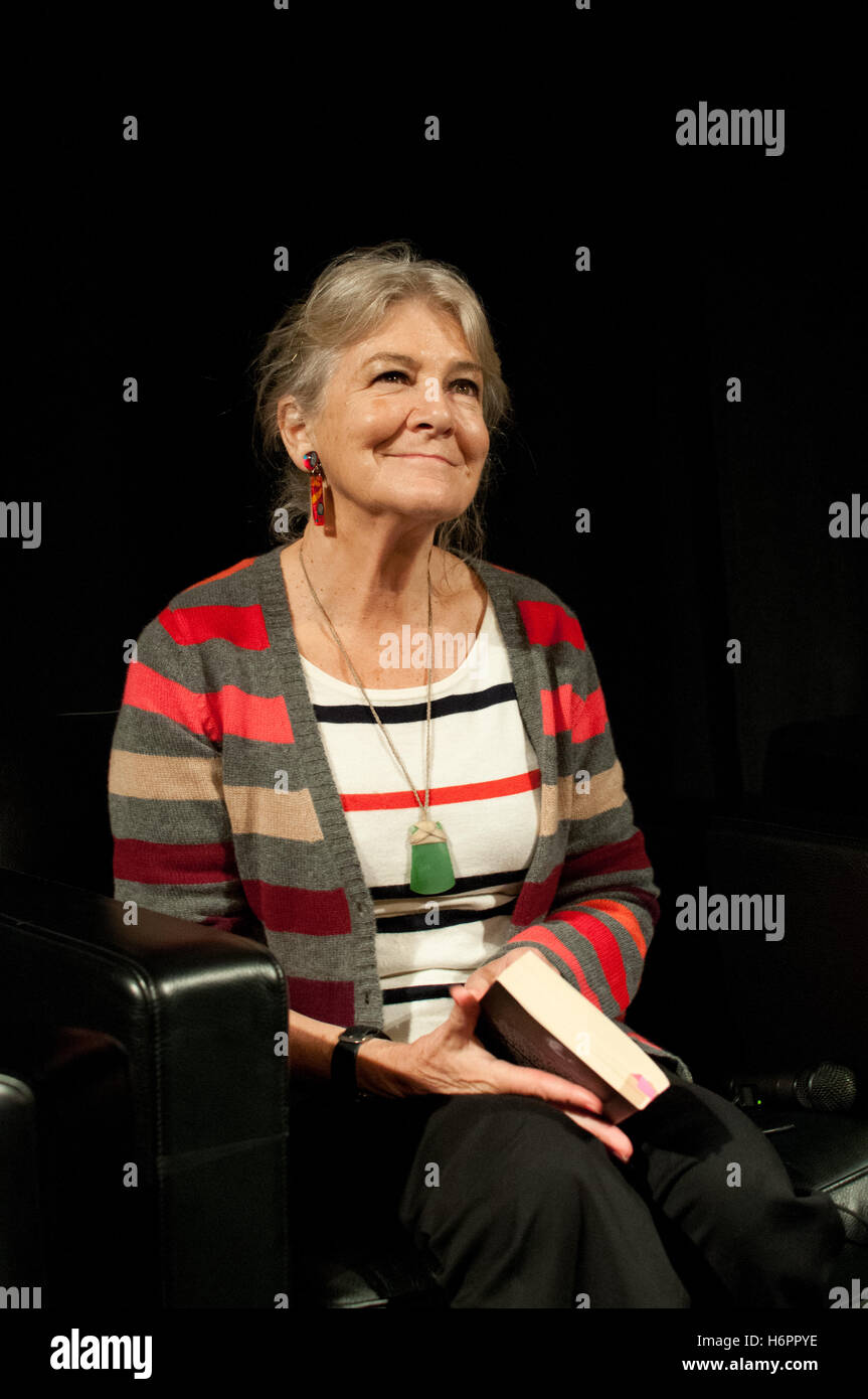 New Zealand actress turned author Barbara Ewing after an interview on the New Zealand stage, Frankfurt Bookfair - Stock Image