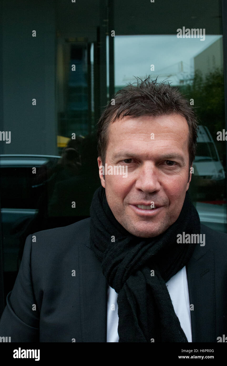 "Former Soccer Player Lothar Matthäus at the Frankfurt Bookfair 2012, autobiographie ""Ganz oder gar nicht"" Stock Photo"