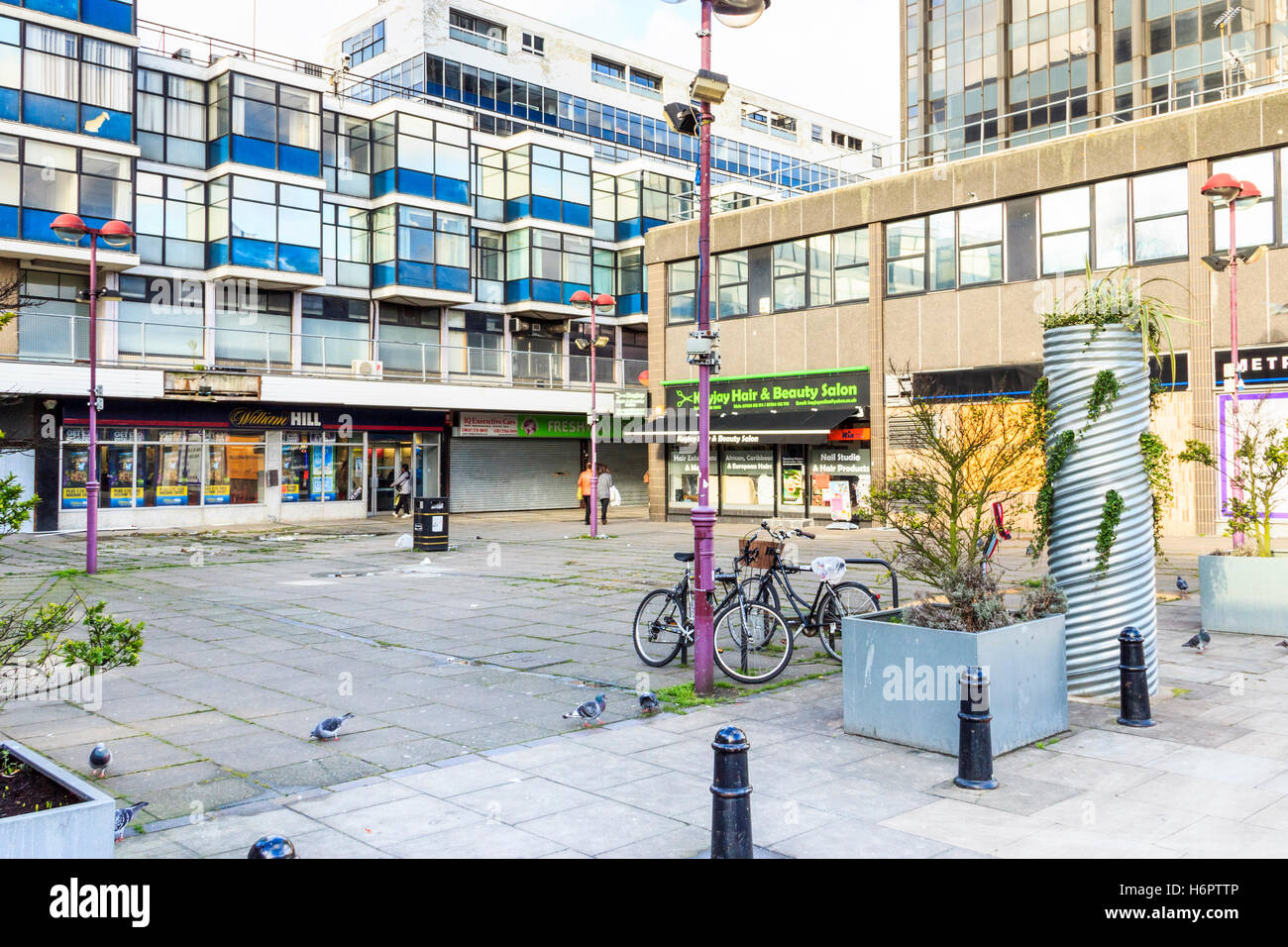 Hill House and Archway Mall before redevelopment, North London, UK - Stock Image