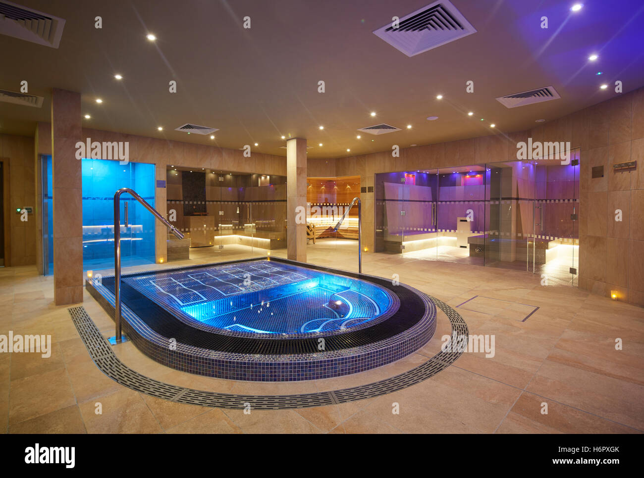Spa pool interior modern posh clean inside spa nelson sauna space