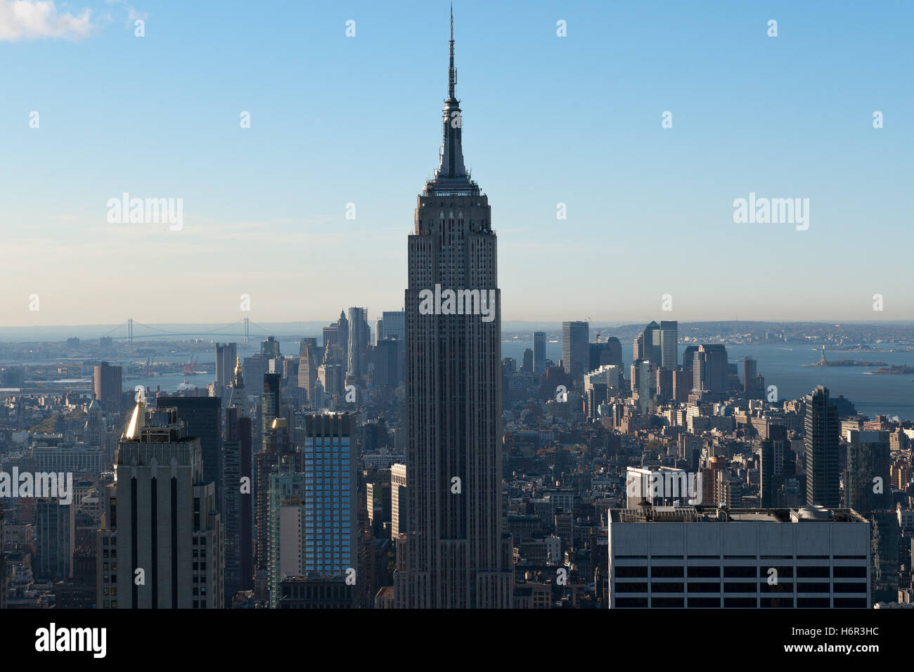 usa manhattan new york architektur empire state building amerika stadt wolkenkratzer - Stock Image