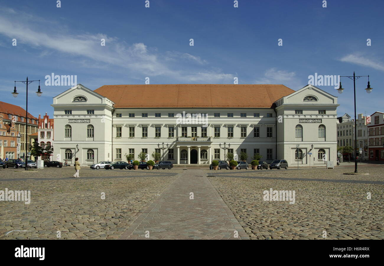 germany german federal republic town hall facade classicism building buildings plaster germany german federal republic - Stock Image