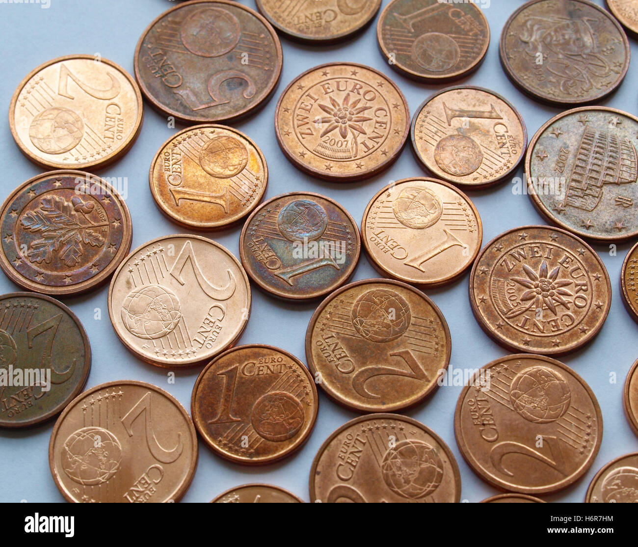 currency euro coin coins change cash cold cash money in cash money currency euro europe coin coins business dealings - Stock Image