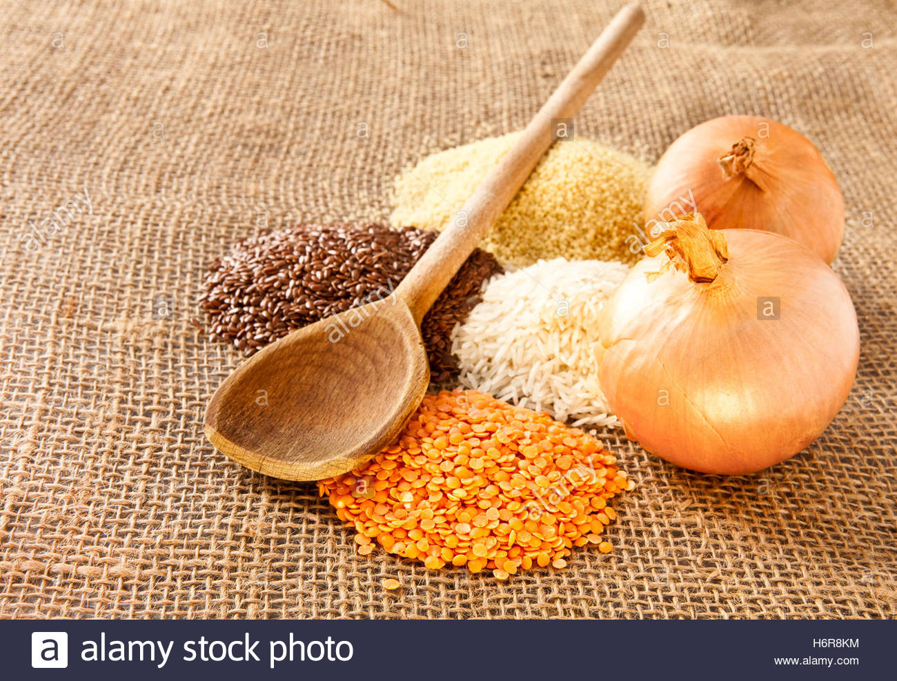 food aliment brown brownish brunette rough four grain kitchen cuisine wholesome material drug anaesthetic addictive - Stock Image