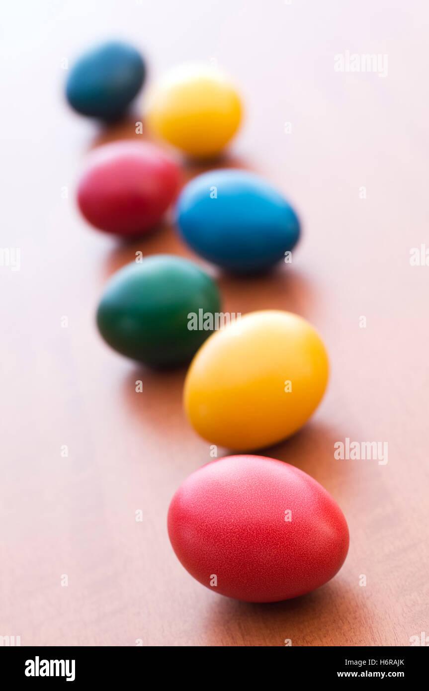 easter egg food aliment colour celebrate reveling revels celebrates easter spring bouncing bounces hop skipping - Stock Image