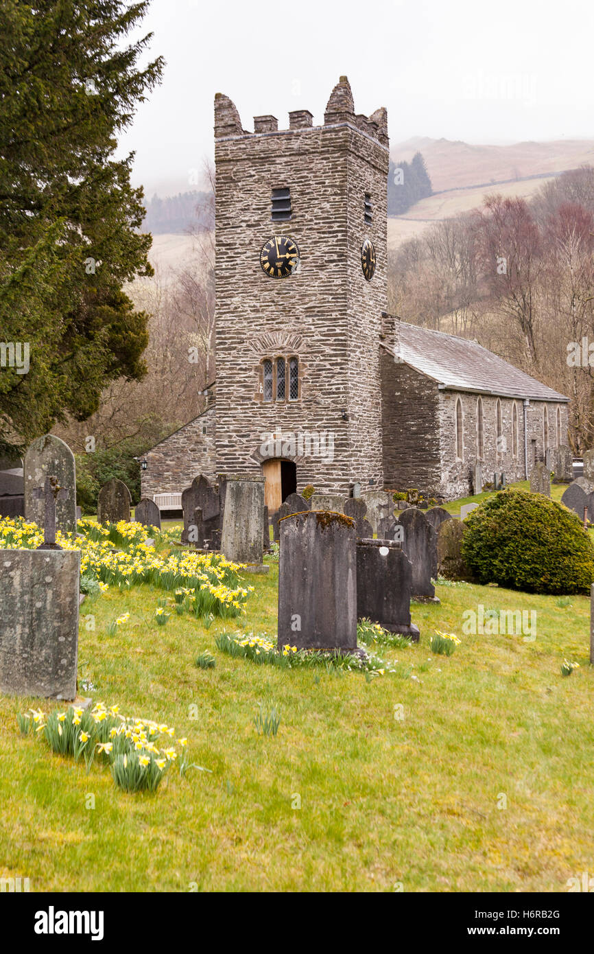 Jesus Church, Troutbeck, Lake District, Cumbria, England - Stock Image