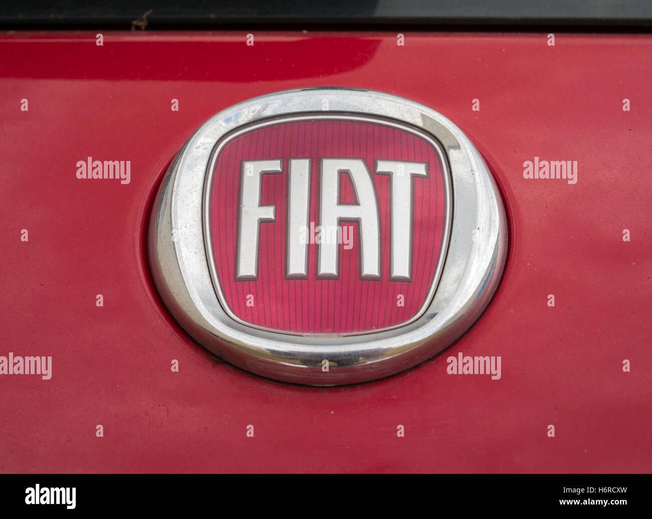 Fiat Car Badge Stock Photos Fiat Car Badge Stock Images Alamy