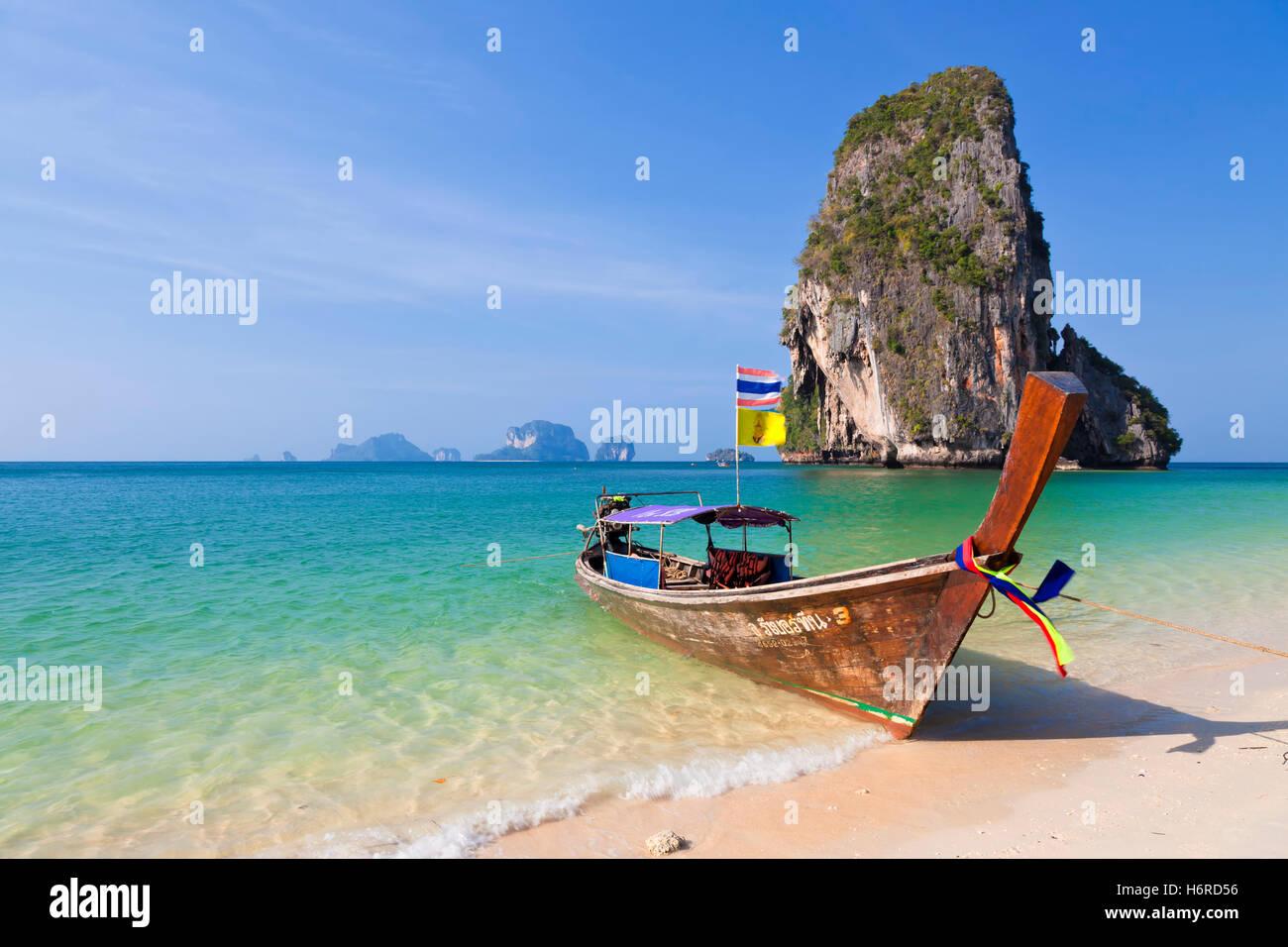 railey beach in thailand - Stock Image