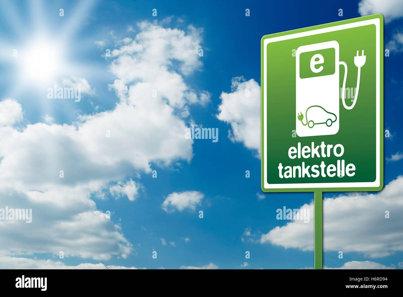 elektrotankstelle Stock Photo