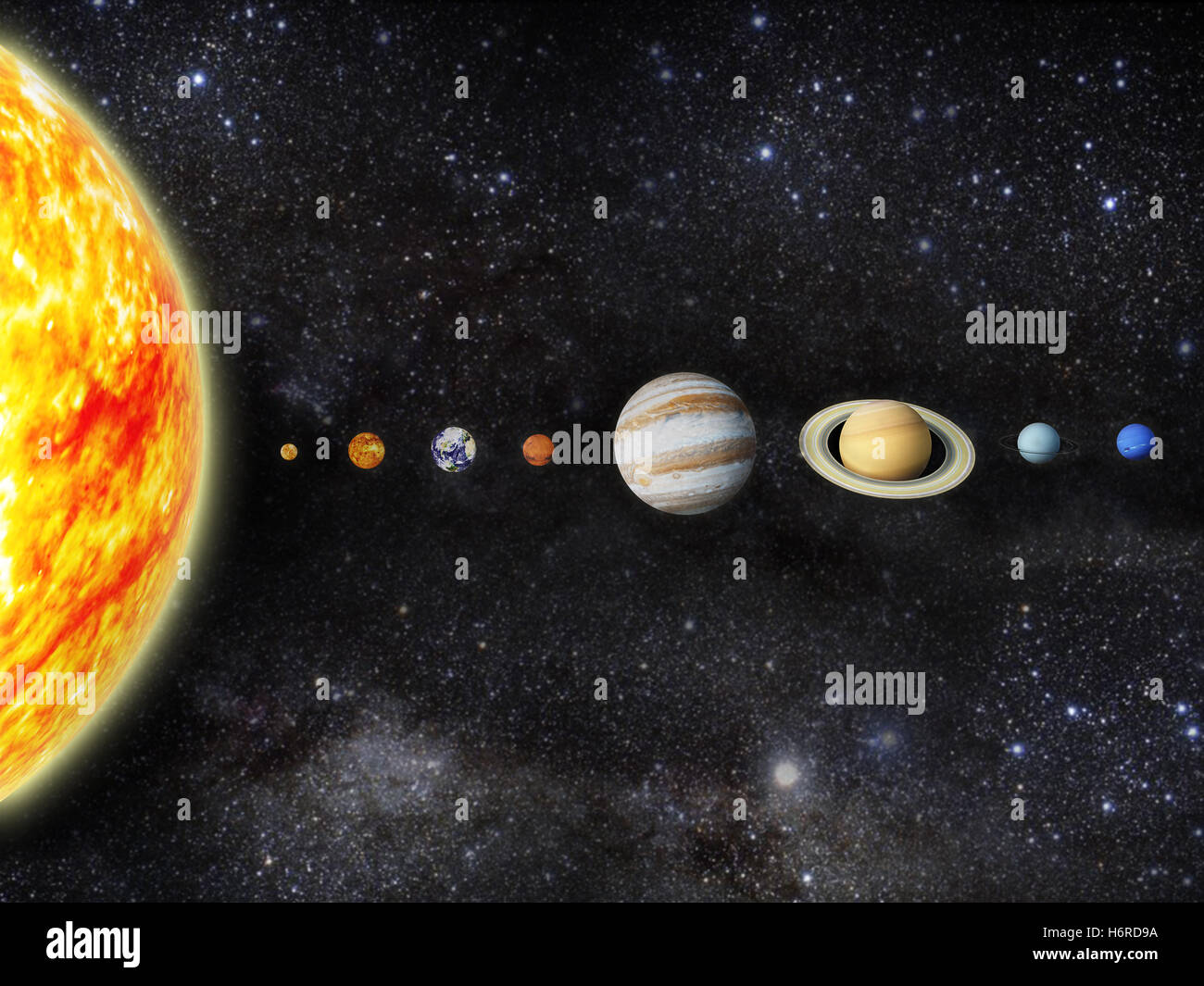 outer space astronomy - Stock Image