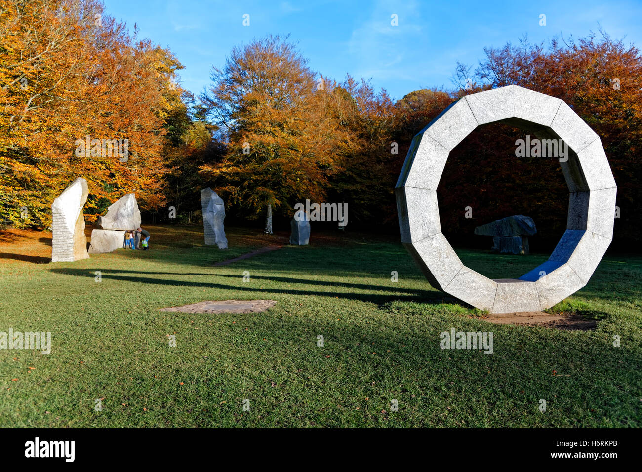 Heaven's Gate, Longleat Safari & Adventure Park, Wiltshire, UK. 31st October 2016. Autumn colours at Heaven's - Stock Image