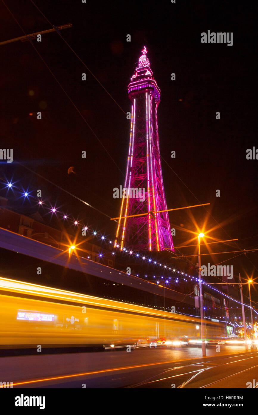 Blackpool, Lancashire, UK. 1st November, 2016. Lightpool Festival launches at home of Blackpool Illuminations. Blackpool - Stock Image