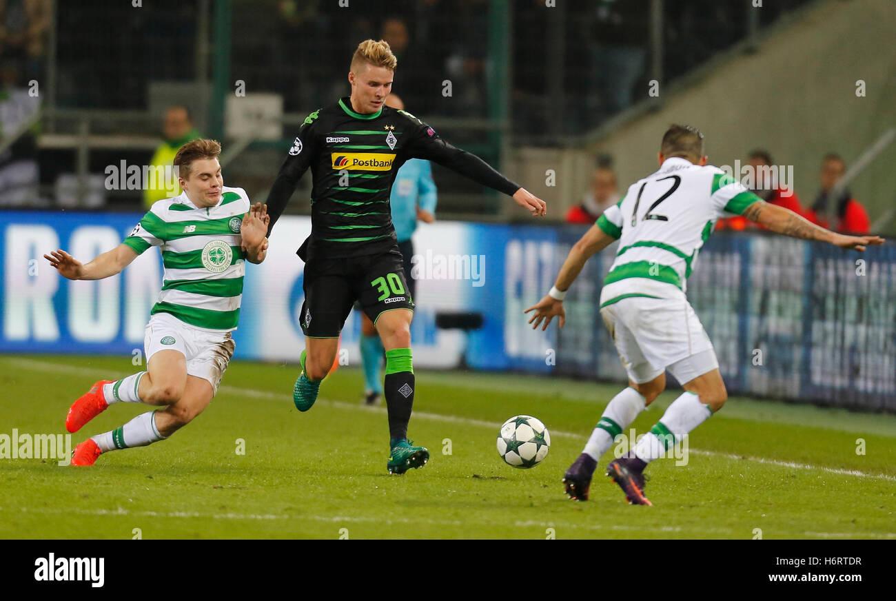 Gladbach, Germany. 1st November, 2016. Champions League group C, matchday 4, Borussia Moenchengladbach - Celtic - Stock Image