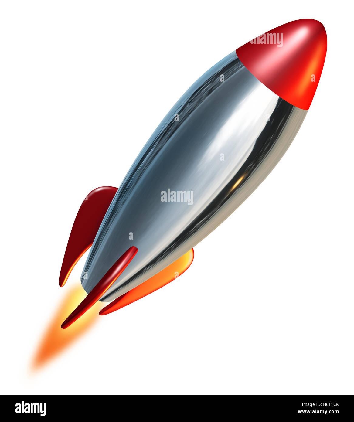 space flight vehicle flame flames upward thrust rocket combustion missile exploration blast off spaceflight rocketry - Stock Image
