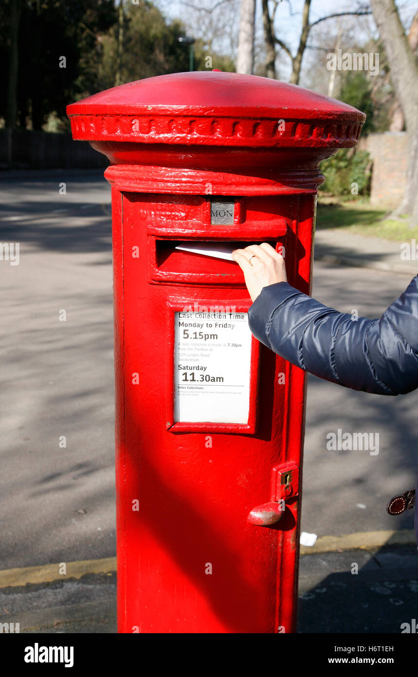 Public London England Mailbox Traditional Hole Letter Mail