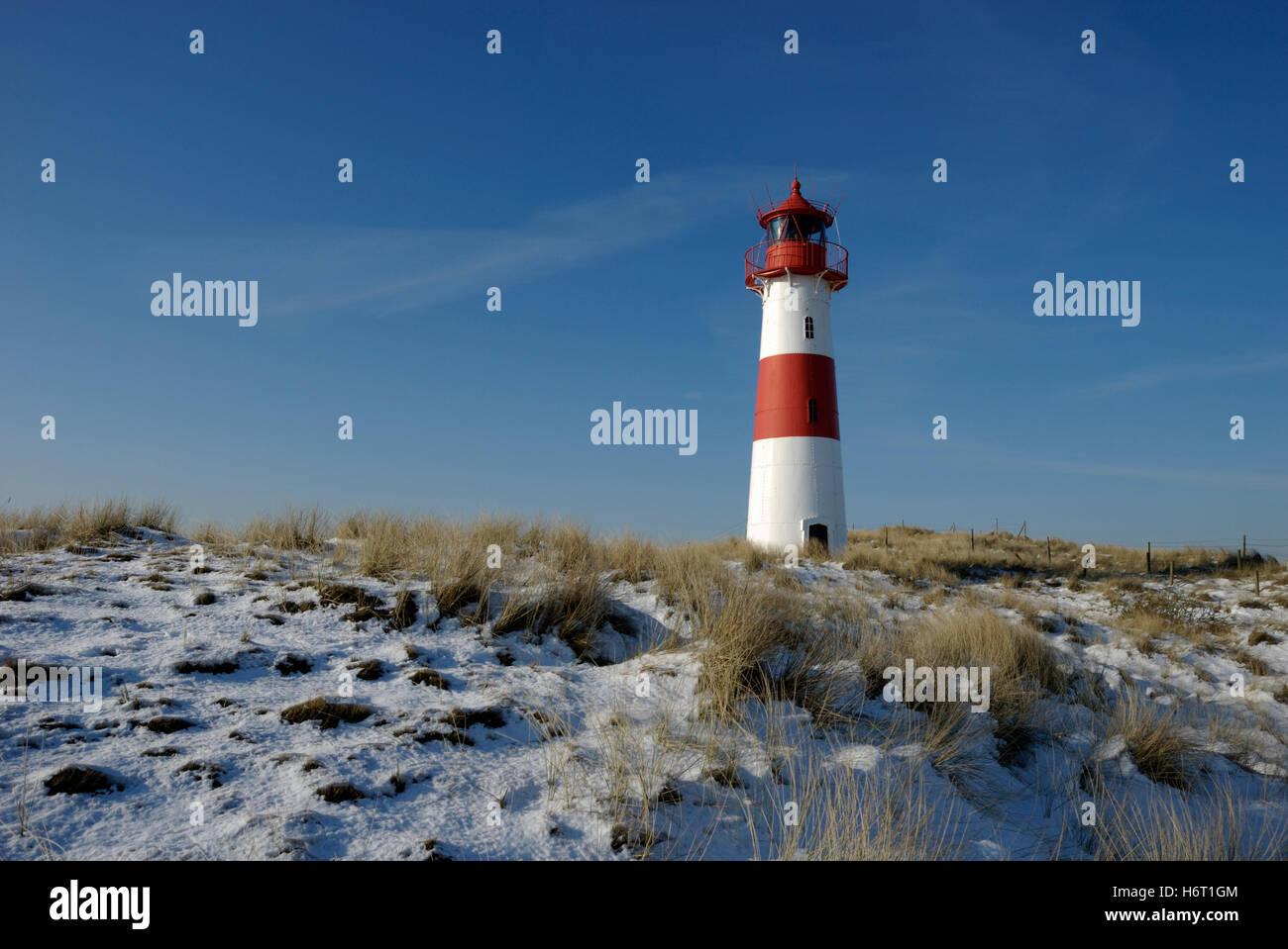 lighthouse list on sylt ost - Stock Image